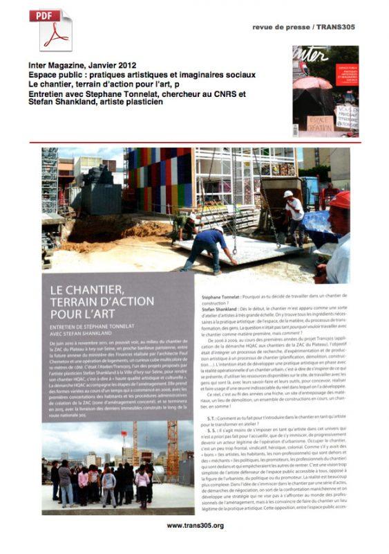 Inter – magazine Trans305 / Stefan Shankland