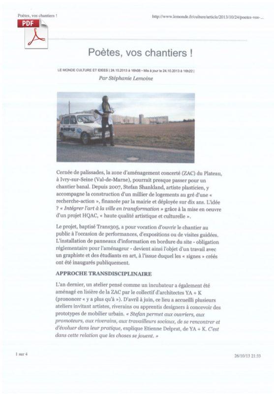 Poètes vos chantiers Trans305 / Stefan Shankland