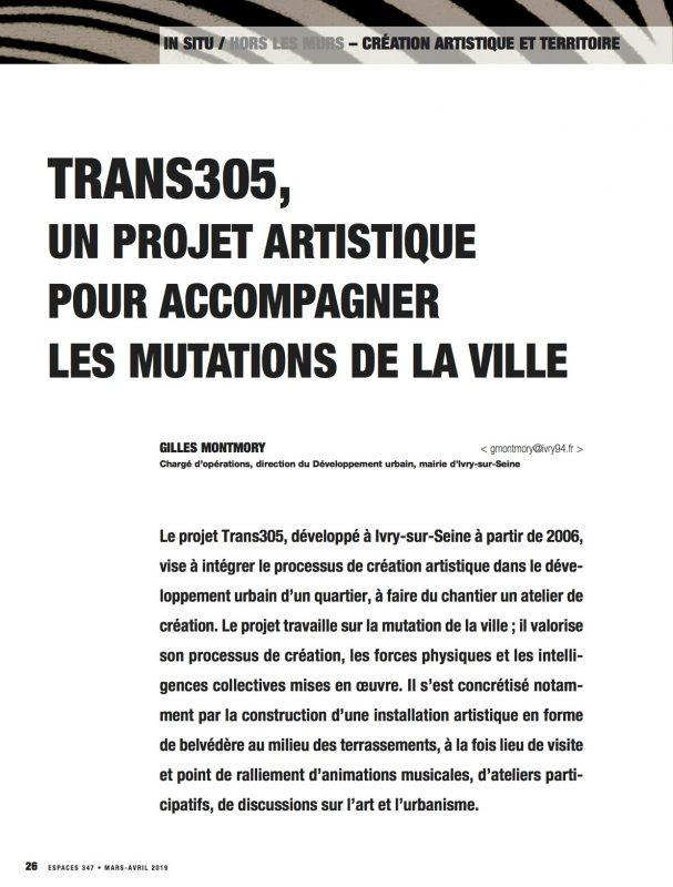 Revue ESPACES Trans305 / Stefan Shankland